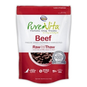 PureVita Beef Freeze Dried Raw Treats 2.5 oz.