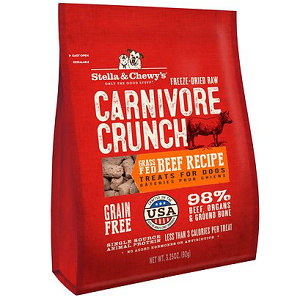 Stella & Chewy's Carnivore Crunch Grass Fed Beef Dog Treats 3.25oz.