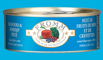 Fromm Four Star Seafood & Shrimp Pâté Canned Cat Food 5.5 oz.