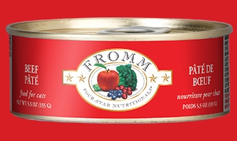 Fromm Four Star Beef Pâté Canned Cat Food 5.5 oz.
