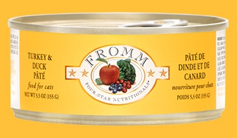 Fromm Four Star Turkey and Duck Pâté Canned Cat Food 5.5 oz.