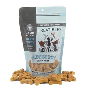 Treatibles Blueberry Grain Free Hemp Treats 8.5 oz.