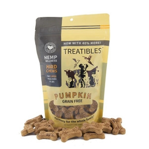 Treatibles Pumpkin Grain Free Hemp Treats 8.5 oz.