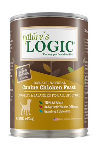 Nature's Logic Canine Chicken Feast Canned Dog Food 13.2 oz.