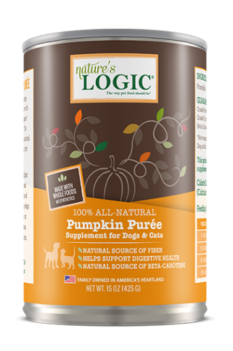 Nature's Logic All-Natural Pumpkin Puree 15 oz.