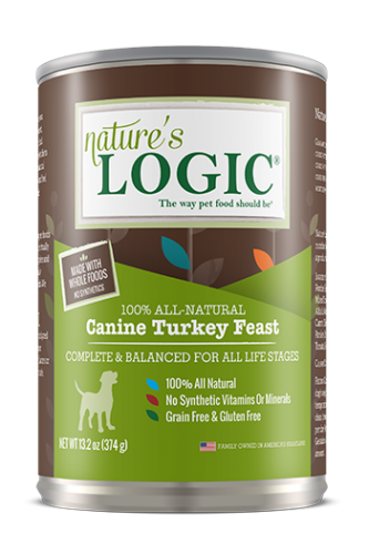 Nature's Logic Canine Turkey Feast Canned Dog Food 13.2 oz.