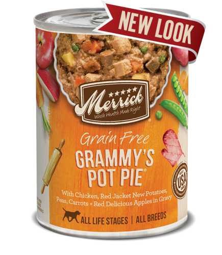 Merrick Grammy's Pot Pie Grain Free Canned Dog Food 13.2 oz.