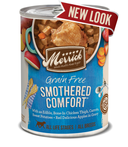 Merrick Smothered Comfort Grain Free Canned Dog Food 13.2 oz.