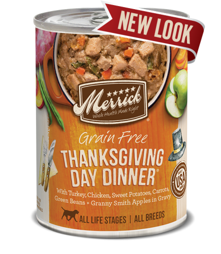 Merrick Thanksgiving Day Dinner Grain Free Canned Dog Food 13.2 oz.