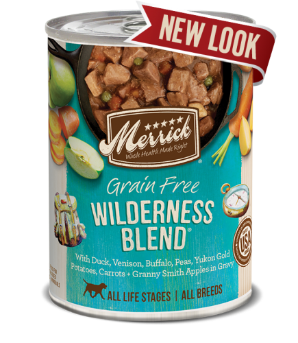 Merrick Wilderness Blend Grain Free Canned Dog Food 13.2 oz.