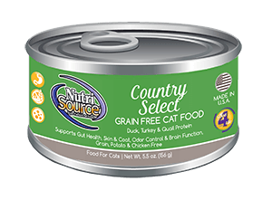 Nutrisource Country Select Grain Free Canned Cat Food 5.5 oz.