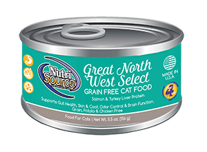 Nutrisource Great Northwest Select Grain Free Canned Cat Food 5.5 oz.