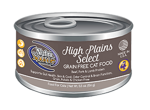 Nutrisource High Plains Select Grain Free Canned Cat Food 5.5 oz.