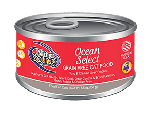 Nutrisource Ocean Select Grain Free Canned Cat Food 5.5 oz.