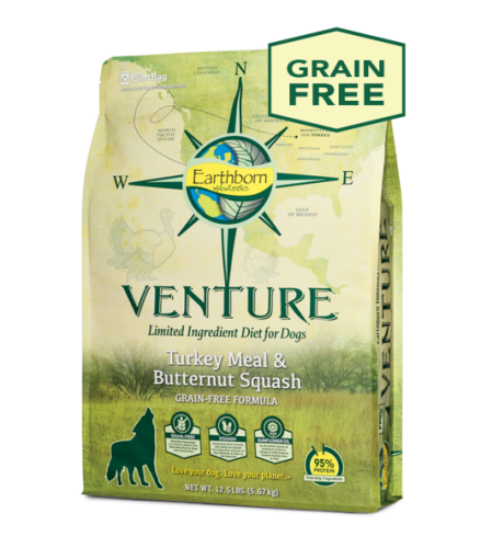 Earthborn Holistic Venture Turkey Meal and Butternut Squash Dog Food