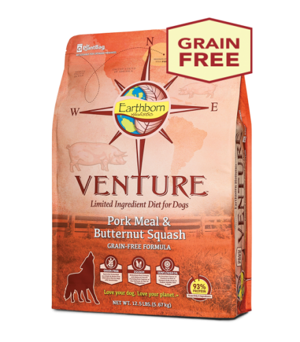 Earthborn Holistic Venture Pork Meal and Butternut Squash Dog Food