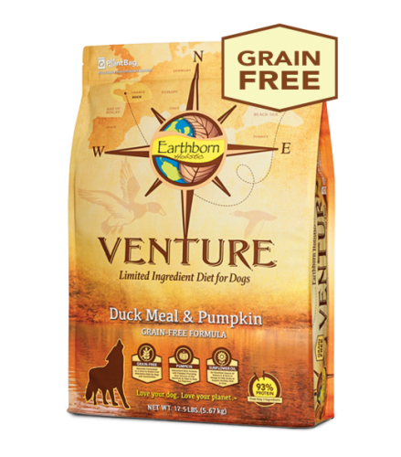 Earthborn Holistic Venture Duck Meal and Pumpkin Dog Food