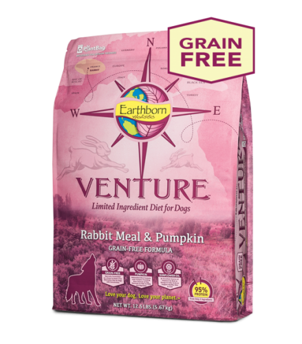 Earthborn Holistic Venture Rabbit Meal and Pumpkin Dog Food