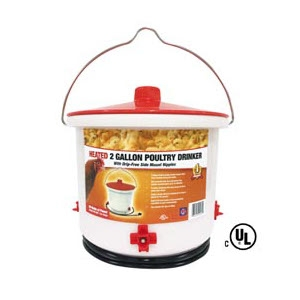 Heated 2 Gallon Poultry Drinker