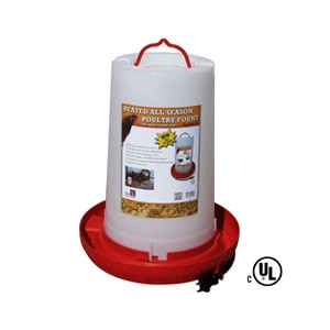 Heated 3 Gallon All Season Poultry Fountain