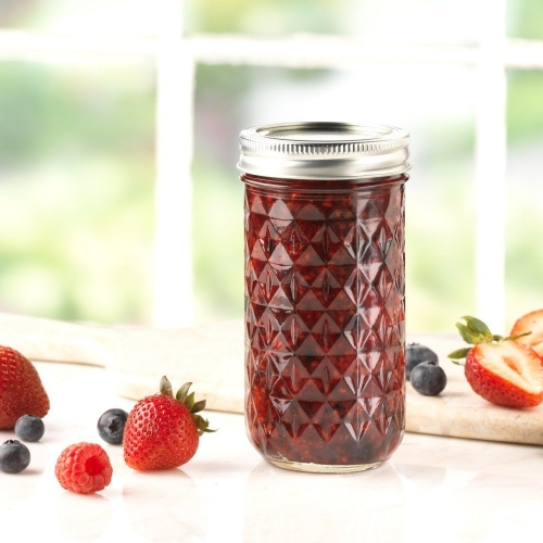 Ball 12 oz. Quilted Regular Mouth Jelly Jar with Lids and Rings