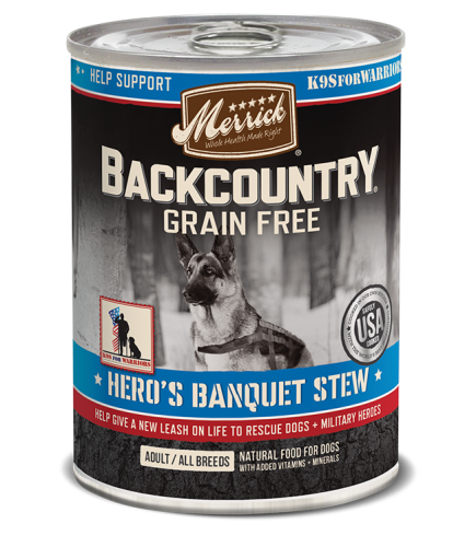 Merrick Backcountry Hero's Banquet Stew Canned Dog Food 12.7 oz.