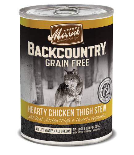 Merrick Backcountry Hearty Chicken Thigh Stew 12.7 oz.