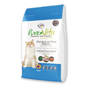 PureVita Grain Free Chicken & Peas Entrée for Cats