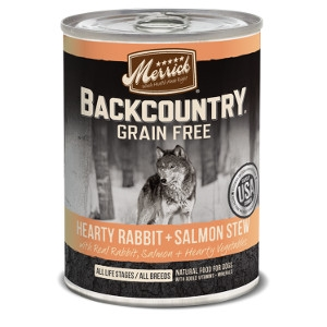 Merrick Backcountry Hearty Rabbit + Salmon Stew Canned Dog Food 12.7 oz.