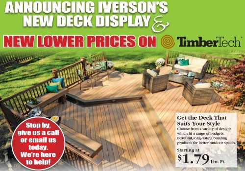 New Lower Prices On TimberTech Decking!